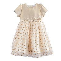 Toddler Girl Nannette Glitter Star Dress