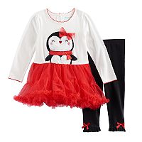 Toddler Girl Penguin Dress & Leggings Set