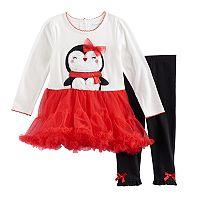 Toddler Girl Penguin Dress & Leggings Set