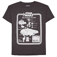Boys 8-20 Star Wars Millenium Falcon Vintage Toy Tee