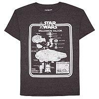 Boys 8-20 Star Wars Millenium Falcon Vintage Toy Tee
