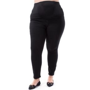 Plus Size Maternity Pip & Vine by Rosie Pope Full Belly Panel Skinny Jeans