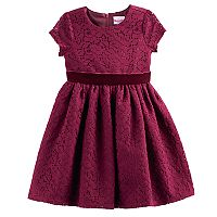 Toddler Girl Nannette Lace & Velvet Dress