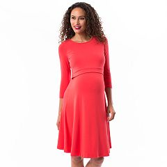 Maternity Pip & Vine by Rosie Pope Layered Nursing Dress
