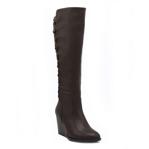 Rampage Loreen Women's Knee High Wedge Boots