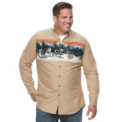 Big & Tall Croft & Barrow® Regular-Fit Twill Button-Down Shirt