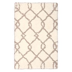 Nourison Morocco Lattice Shag Rug - 2'6'' x 4'