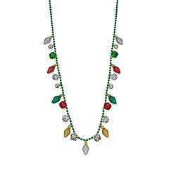 Christmas Light Bulb Long Necklace