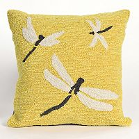 Liora Manne Frontporch Dragonfly I Indoor Outdoor Throw Pillow