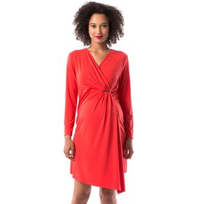 Maternity Pip & Vine by Rosie Pope Faux-Wrap Dress