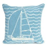 Liora Manne Frontporch Sails Indoor Outdoor Throw Pillow
