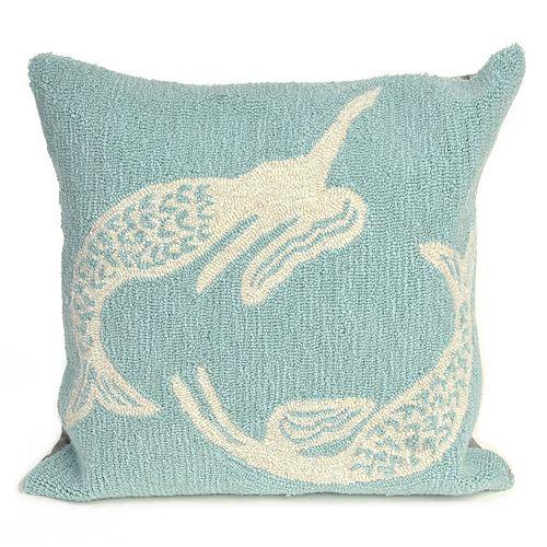 Liora Manne Frontporch Mermaids Indoor Outdoor Throw Pillow