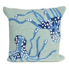 Liora Manne Frontporch Octopus Indoor Outdoor Throw Pillow