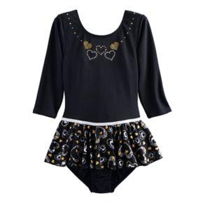 Girls 4-14 Jaques Moret Golden Hearts Long Sleeved Skirtall