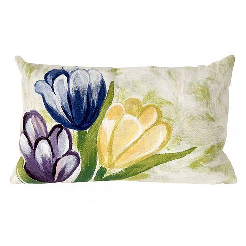 Liora Manne Visions III Tulips Indoor Outdoor Oblong Throw Pillow
