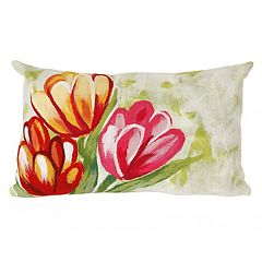Liora Manne Visions III Tulips Indoor Outdoor Oblong Throw Pillow