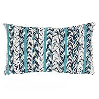 Liora Manne Visions III Braided Stripe Indoor Outdoor Oblong Throw Pillow
