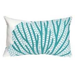 Liora Manne Visions III Coral Fan Indoor Outdoor Oblong Throw Pillow