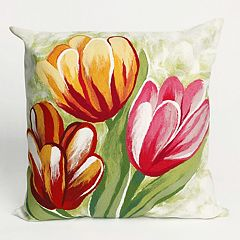 Liora Manne Visions III Tulips Indoor Outdoor Throw Pillow