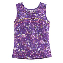 Girls 4-14 Jacques Moret Triangle Abstract Dance Tank Top