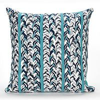 Liora Manne Visions III Braided Stripe Indoor Outdoor Throw Pillow
