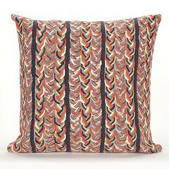 Liora Manne Visions III Braided Stripe Indoor Outdoor Throw Pillow