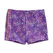 Girls 4-14 Jacques Moret Triangle Abstract Dance Shorts