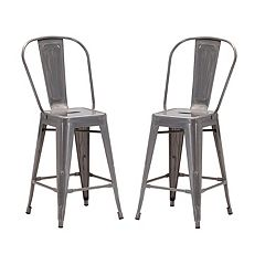 Zuo Modern Elio Industrial Counter Stool 2-piece Set