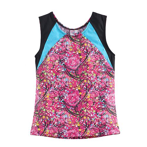 Girls 4-14 Jacques Moret Amazing Dots Dance Tank Top