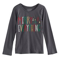 Girls 4-10 Jumping Beans® Holiday Long-Sleeved Tee
