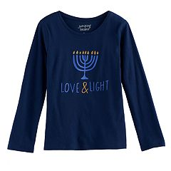 Girls 4-10 Jumping Beans® Hanukkah 'Love & Light' Tee