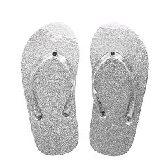 Girls 4-16 Glitter Jelly Flip-Flops