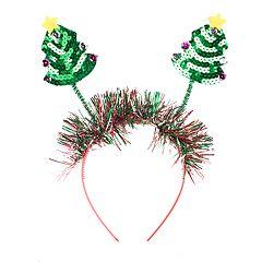Glittery Christmas Tree Headband
