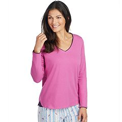 Women's Jockey Pajamas: Long Sleeve V-Neck Top