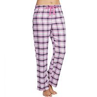 Women's Jockey Pajamas: Purple Plaid Flannel Long Pants
