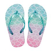 Girls 4-16 Ombre Mermaid Scales Flip Flops