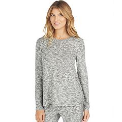 Women's Cuddl Duds Pajamas: Snow Days Henley Long Sleeve Top