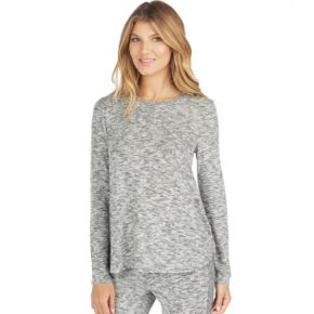 Women's Cuddl Duds Pajamas: Snow Days Henley Long Sleeve Top