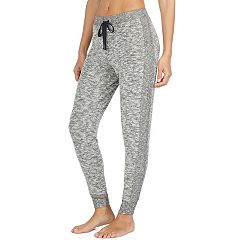 Women's Cuddl Duds Pajamas: Snow Days Ribbed Panel Jogger Pants