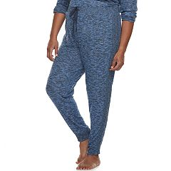 Plus Size Cuddl Duds Pajamas: Snow Days Jogger Pants