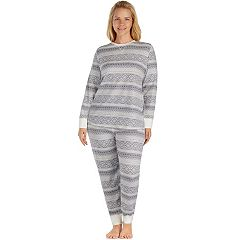 Plus Size Cuddl Duds Pajamas: Top, Leggings & Hair Ties PJ Set