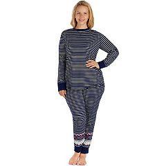 Plus Size Cuddl Duds Pajamas: Top, Leggings & Hair Ties PJ Set