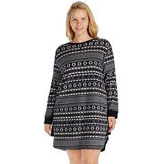 Plus Size Cuddl Duds Pajamas: Fleece Headband & Sleep Shirt PJ Set