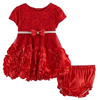 Baby Girl Nannette Rosette & Lace Dress