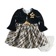 Baby Girl Nannette Plaid Dress & Shrug Set
