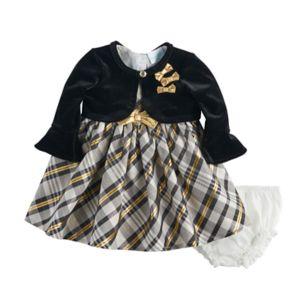 Baby Girl Nannette Plaid Dress & Shrug Set