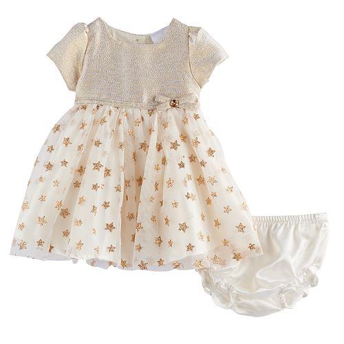 Baby Girl Nannette Gold Star Dress