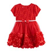 Baby Girl Nannette Rosette Floral Lace Dress