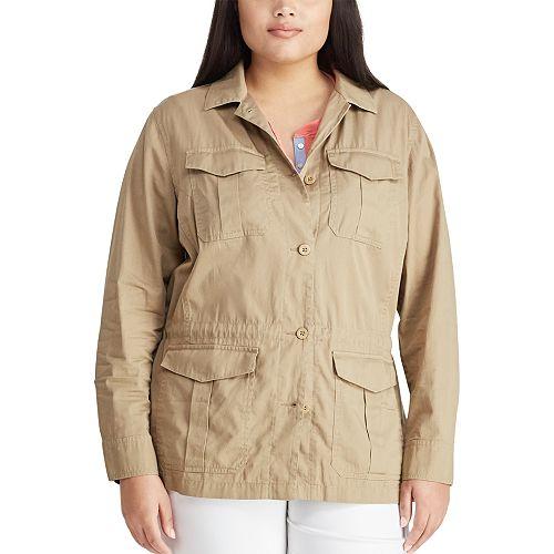 Plus Size Chaps Ready To Wear utility Jacket