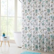 VCNY Delilah PEVA Shower Curtain, Bath Rug & Hook Set